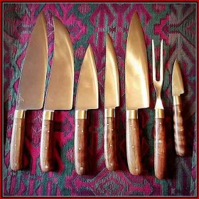 Kitchen knife set, without add-on's